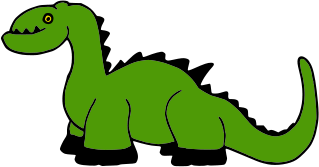 A crude dinosaur picture